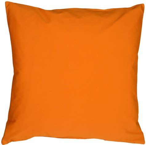 Orange Toss Pillows by Caravan Cotton Orange 18x18 Throw Pillow From Pillow Decor