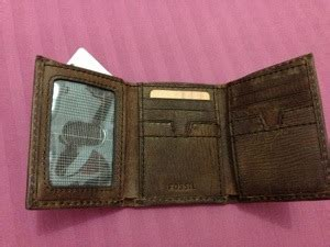 Fossil Dompet Wallet Authentic Original Glitter Leather fossil wallet unisex sold menjual branded things