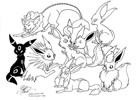 pokemon pictures of eevee az coloring pages