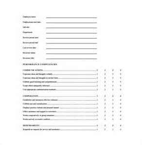 employee review form template free employee review forms 8 free documents in pdf