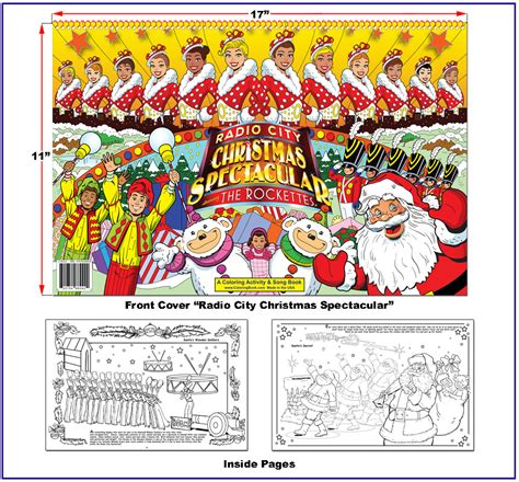 rockettes coloring page really big coloring books debuts quot radio city rockettes