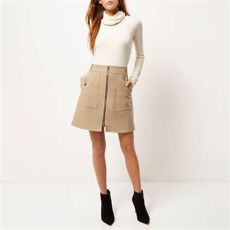 camel a line skirt redskirtz