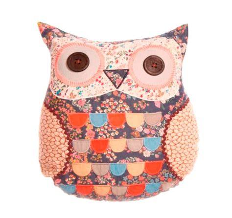 Patchwork Owl Cushion - sass and owl cushion ditsy floral patchwork applique