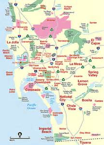Map San Diego County by San Diego County Cities San Diego California