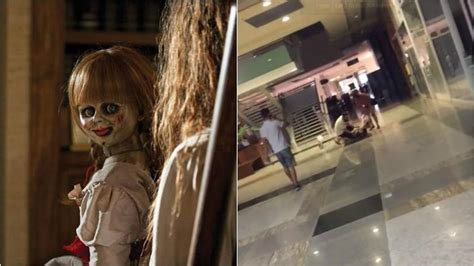annabelle doll india punches self screams after annabelle