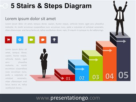 What Colors Go With Light Green by Free Stairs Powerpoint Templates Presentationgo Com