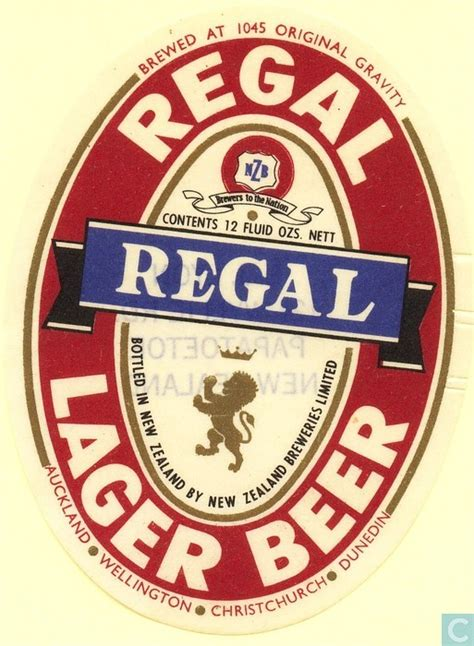 regal lager regal lager new zealand breweries ltd catawiki