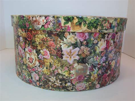 Box Kemasan Souvenir Motif Bunga Flowers Box Packaging Box Hpk018 decoupage large hat box floral garden motif paper by 2lewa