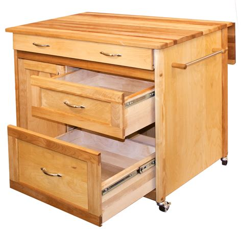 catskill drawer island drop leaf and storage