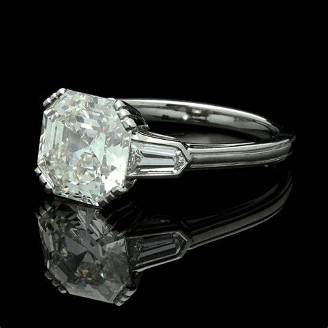 3 07 carat asscher cut solitaire ring with bullet