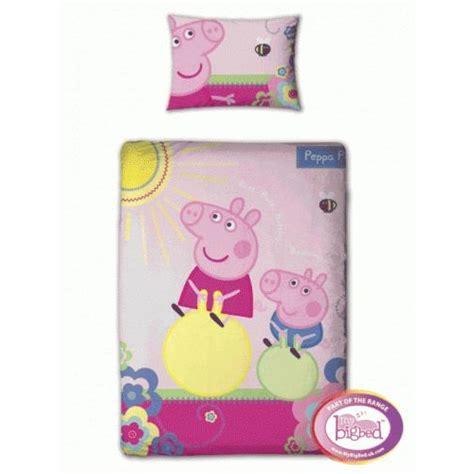 Peppa Pig Junior Bed Set Peppa Pig Adorable Junior Cot Bedding Duvet Quilt Cover Pillowcase Set Ebay