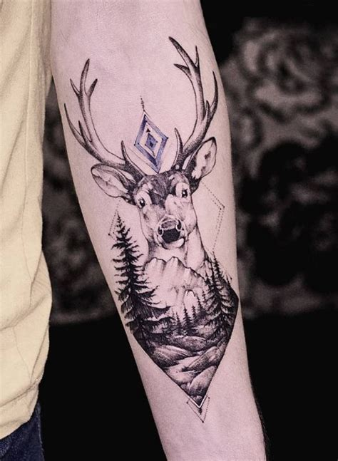 awesome deer tattoo inkstylemag