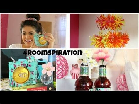 How To Make Decorations For Your Room Out Of Paper - diy room decorations using water bottles soda cans