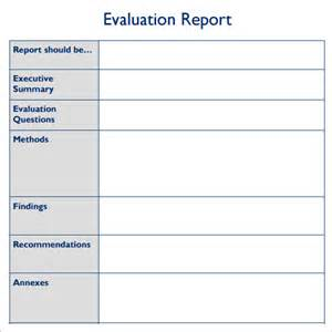 sample evaluation report template 7 free documents