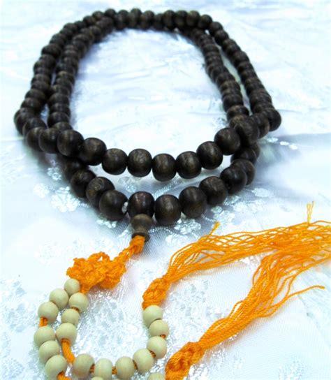 bead the monk tibet buddhist monk wood mala prayer necklace new ebay