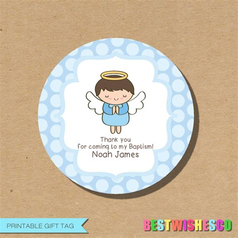 printable baptism stickers personalized printable baptism tag favor gift tags first