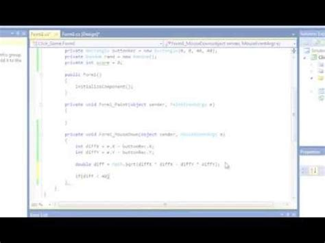 tutorial of asp net with c sharp c sharp tutorial simple click game for beginners youtube