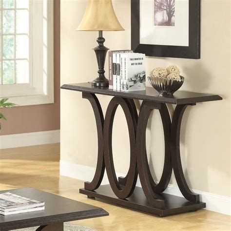 C Sofa Table by Coaster C Shaped Sofa Table In Cappuccino 703149