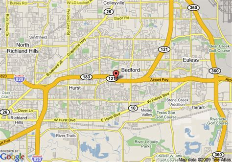 bedford texas map map of baymont inn suites bedford dfw airport bedford