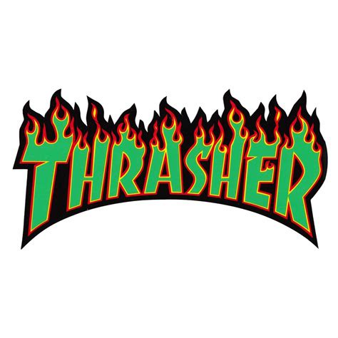 The Thrasher by Thrasher Flames Sticker Vancouver