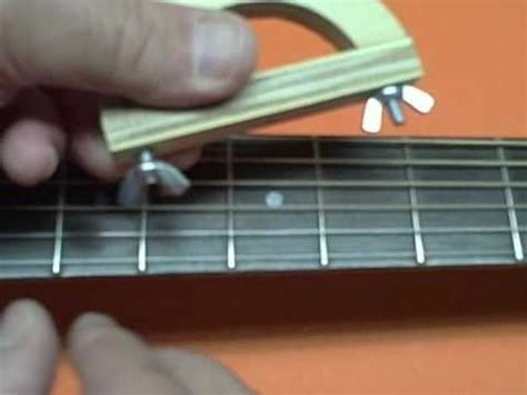 build an a frame build the improved 99 cent guitar capo youtube