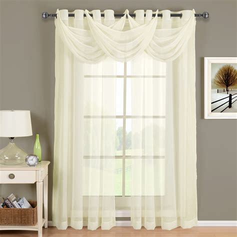 Ivory Sheer Curtains Scotts Sales Abri Ivory Grommet Crushed Sheer Curtain Panel 50x63