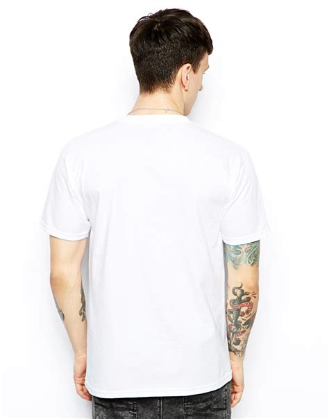 Print Back T Shirt lyst rook tshirt with cuban link back print in white for