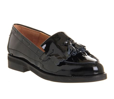Black Master Loafer Black office extravaganza loafers black patent leather flats