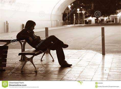 lonely man on bench lonely man on the bench royalty free stock image image