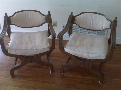 Vintage Parlor Chair With Carving And Wood Casters My