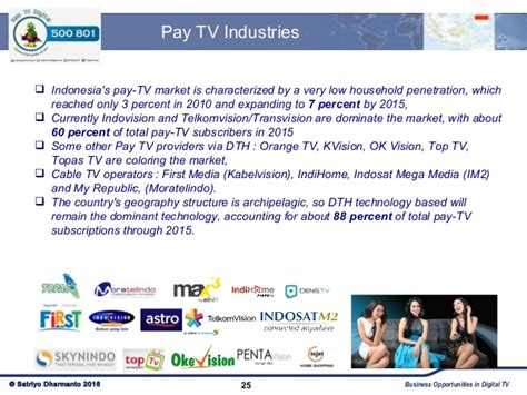 Digital Topas Tv by Update On Indonesia Digital Tv Market 2016