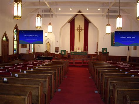 church projector screens