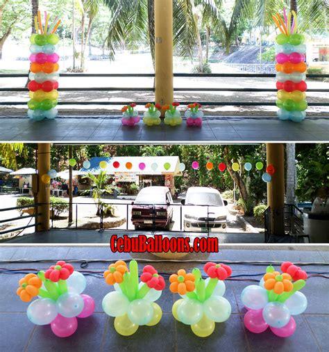 Hawaiian Balloon Decorations by Hawaiian Balloon Decoration For A 60th Birthday At Tingub