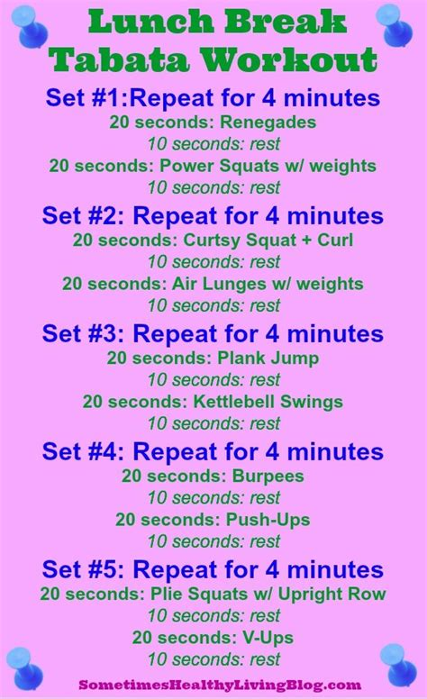 printable workouts the sometimes healthy living
