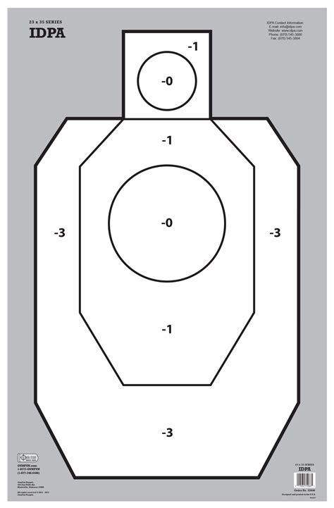 printable uspsa targets idpa white 22040 gunfun shooting targets