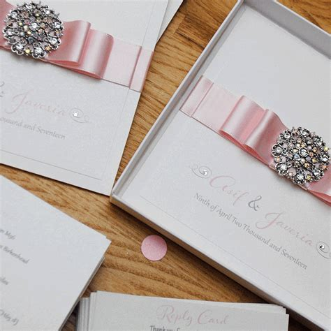 Luxury Handmade Wedding Invitations - luxury handmade wedding invitation with vintage brooch