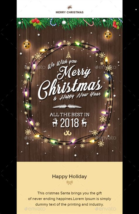 Christmas Email Templates For The Upcoming Holiday Mailing Gt3 Themes Wishes Email Template
