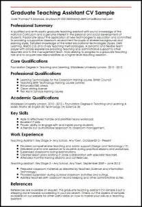 Graduate Teaching Assistant Cv Sample Myperfectcv