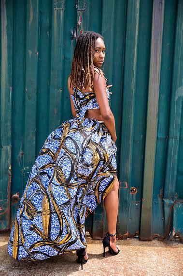Dress Nella Maxi bomb product of the day all things ankara s quot nishkami quot blue ankara cutout maxi dress fashion