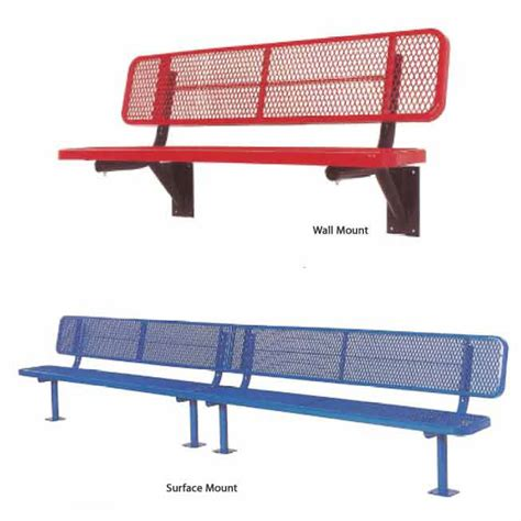 perforated metal bench ultraplay outdoor bench with back perforated metal 15 l