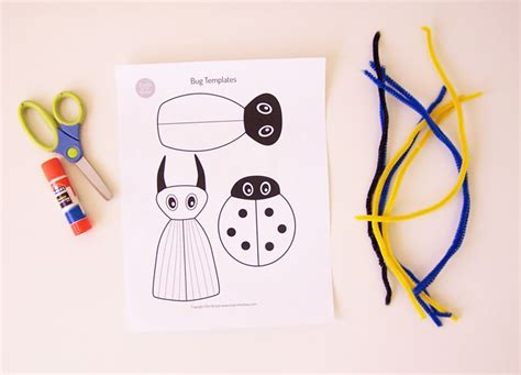 free printable crafts for printable bug craft create in the chaos