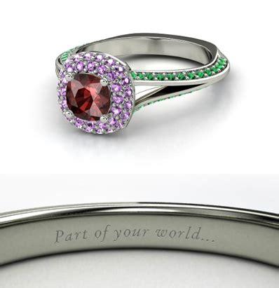 jewelry disney ring rapunzel princess ariel