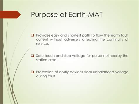 What Is An Earthing Mat by Earth Mat Design For Metro Station