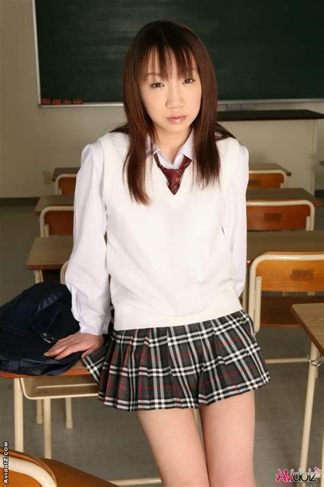 Young Japanese Schoolgirl Ai Yumemi Is Posing