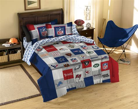 nfl bedding set bedroom sitting chairs for cream furniture twin nfl
