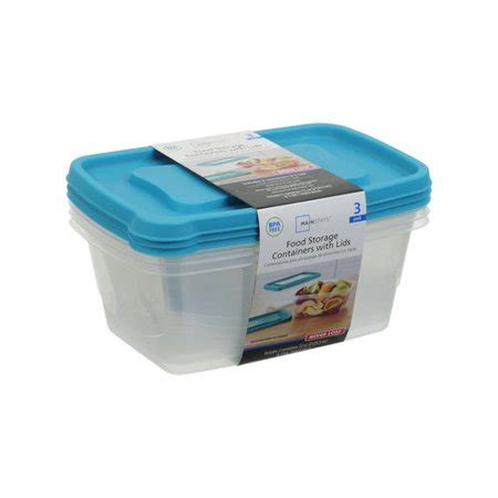 Walmart Kitchen Storage Containers by Mainstays 9 Cup Rectangular Food Storage Containers 3pk