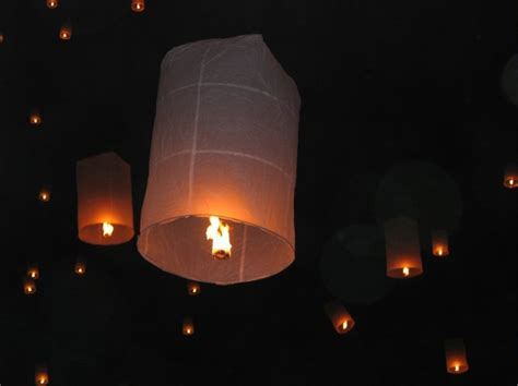 Make Flying Paper Lanterns - pin lanterns flying sky paper air balloon thai style