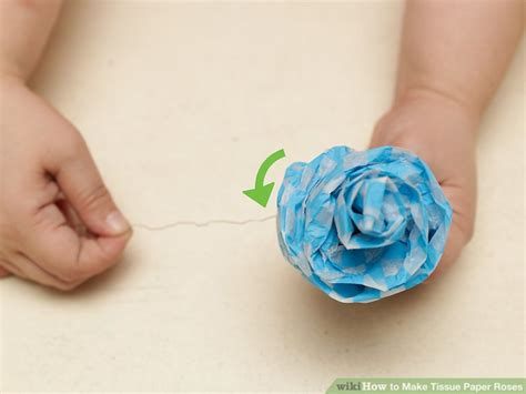 Roses Out Of Tissue Paper - 3 ways to make tissue paper roses wikihow