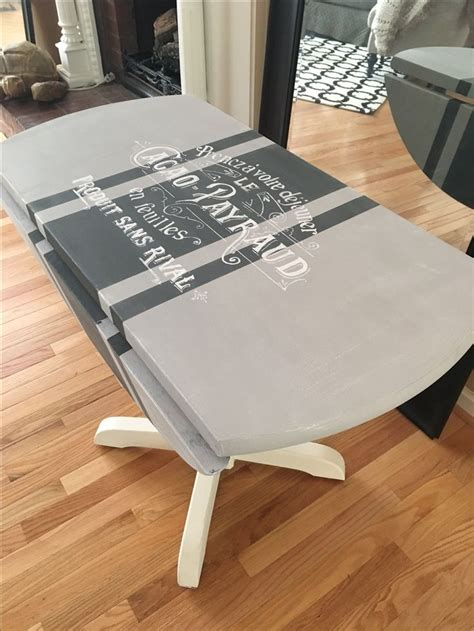 chalk paint kitchen table sloan chalk painted kitchen table using gray