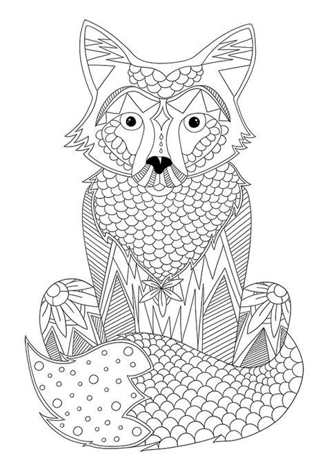 Coloriage à imprimer d'animaux : le renard   Blog Dinett